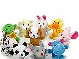 Scrox 10 Unids Marionetas de Dedo Juguete Novedad del Bebé Animal Educativo Juguetes de Mano para Bebé Tiempo de Cuentos, Espectáculos, Tiempo de Juego, Escuelas Incluyendo