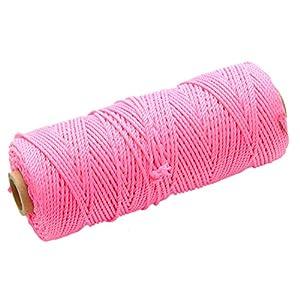 Faithfull – Hilo de replanteo de alta visibilidad (nailon, 105m), color rosa