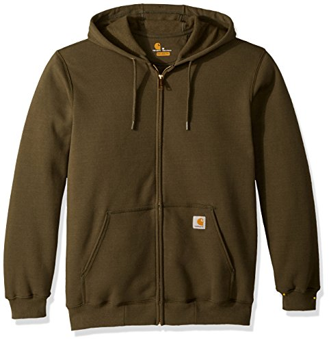 Carhartt K122 Zip Hooded Sweatshirt S Moss - Hooded Fashion Sweatshirt