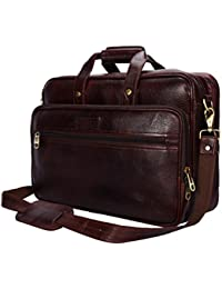 Yark Genuine Leather Laptop Bag/Briefcase Fits Upto 15.6 inches Laptop Screen (Y10104)
