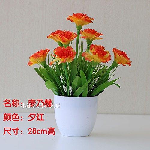 Preisvergleich Produktbild WANG-shunlida Unechte Blumen Die grüne Pflanze Blumen innen Wohnzimmer Dekoration Dekoration Desktop Potted Flower Ornament,  TK