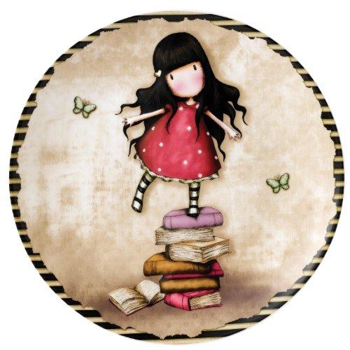 Beatrix Potter A26488 Piatto Murale, Collezione Gorjuss, Otto Nuovi Libri Resina, Lavabile a Manno, per 1 Anno, 20 cm