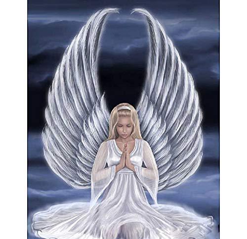 wachsene Engel Weiße Flügel Abstrakte Grafik Wand Dekorgeschenke Für Erwachsenen 16X20 Inch Ohne Rahmen ()