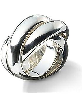 SKIELKA DESIGNSCHMUCK 3er Ring10mm Goldschmiedearbeit (Sterlingsilber 925) - Rollring - Spielring - Dreierring