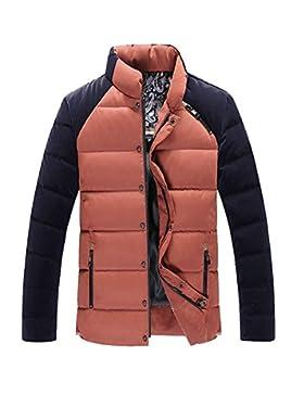 MHGAO Nuevo para la camisa de otoño / invierno de los hombres de Down Jacket , orange , l