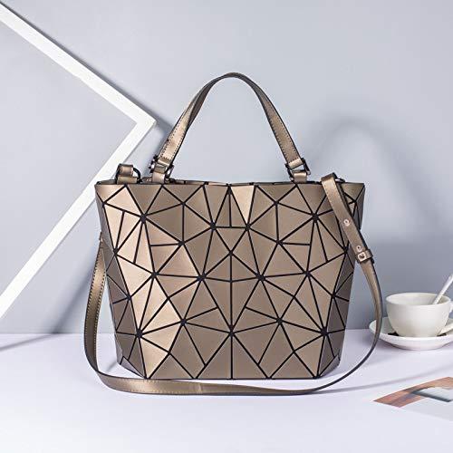 HHdstb Neue Frauen Taschen Leuchtende Handtasche Plain Falten Geometrische Umhängetasche Weibliche Tote Casual Hologramm Frauen Umhängetaschen Bao Bag - Neue Tote Bag Handtasche