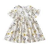 Zylione Kinder Kleid Baby Kurzarm Saum Sommer Blumen Blume Prinzessin Kleid Mädchen Freizeitkleidung Kindertagesgeschenk