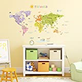 Decowall, DM-1306, The World Map Wall St...