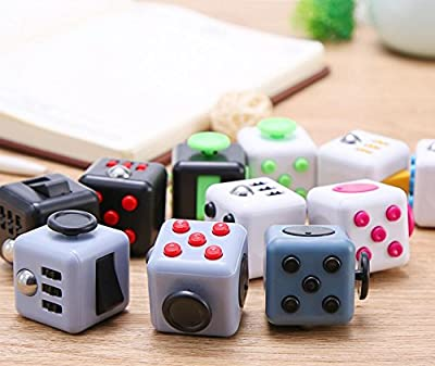 JIASTONE New Generic Fidget Cube Childern Toy Adults Reliveve Stress Cubes & Anxiety Attention Toy with a free storage bag