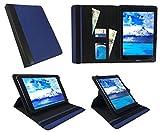 One Tablet Xcellent 10 Windows Blau mit Schwarzer Trimmen Universal 360 Grad Drehung PU Leder Tasche Schutzhülle Case ( 9 - 10 Zoll ) von Sweet Tech