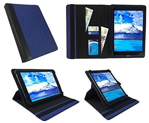 "Denver TAD-10063 / TAD-10072 / TAQ-10122 / TAQ-10133 / TAQ-10153 10.1"" Tablet Blau mit Schwarzer Trimmen Universal 360 Grad Drehung PU Leder Tasche Schutzhülle Case ( 9 - 10 Zoll ) von Sweet Tech"