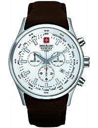 Swiss Military 06.4156.04.001.05 - Reloj de caballero de cuarzo, correa de piel color marrón