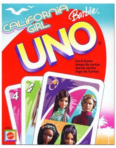 Mattel - Barbie UNO, 2 - 10 Spieler