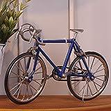 shunlidas Home Deko Dekoration Schlafzimmer Figurinehandgemachtes Fahrrad Lebensechtes Altes Fahrrad Fährt Kreative Geschenke, Marine-Blau Rad