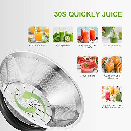Zentrifugenentsafter 800W für Obst und Gemüse Bild 5*