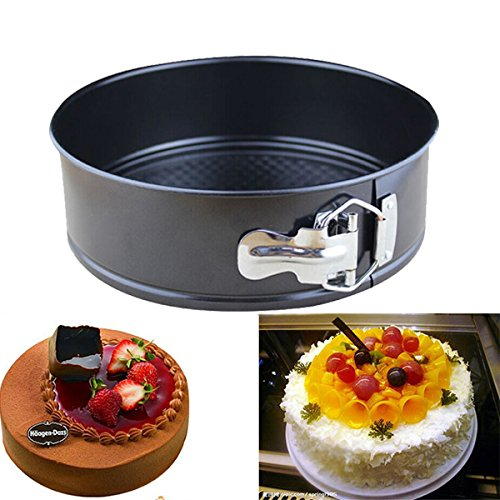 aliciashouse 10 pollici antiaderente torta Pan favose in acciaio inox dal vivo inferiore Cake Pans Mold
