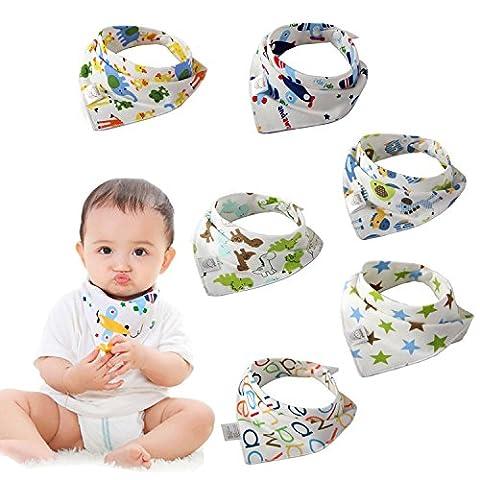 Baby Dreieckstuch Lätzchen Spucktuch Mit - 6er Pack - Bylove Super Absorbent & Soft für ultimativen Komfort mit Druckknöpfen – abwaschbar - Baby Lässig Lätzchen für 0-2 Jahre - Netter Baby-Geschenk für Jungen und Mädchen