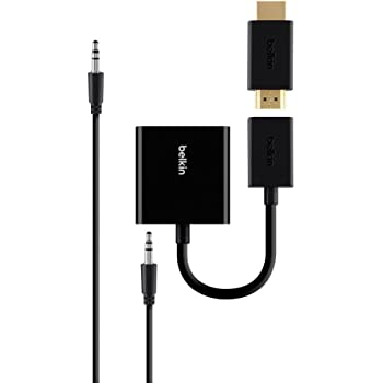 Belkin Universal HDMI-/VGA-Adapter mit Audiokabel: Amazon.de ...