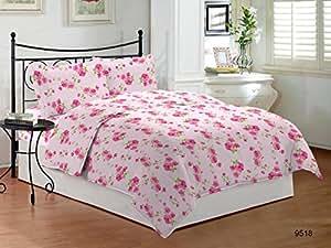 Bombay Dyeing Cynthia Polycotton Double Bedsheet - Pink