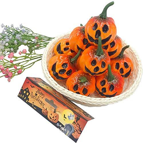 amente für Weihnachten, Halloween, Hochzeiten, Erntedankfest, Tischdekoration, 12 Stück Orange ()