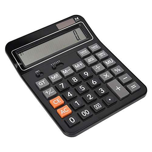 ASHATA Calculatrice à Usage Professionnel, Calculatrice à énergie Solaire/Batterie Double avec Grand écran, Calculatrice financière multifonctionnelle Professionnelle