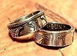 Coinring, Münzring, Ring aus Münze, Heiermann - Silberadler - 5 Mark, 625er Silber - Double Sided coin ring - verschiedene Größen, Ihr handgeschmiedetes Unikat