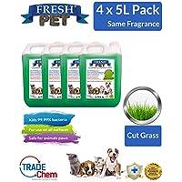 Paquete con 4botes de 5 L de desinfectante, limpiador y ambientador Fresh Pet para mascotas