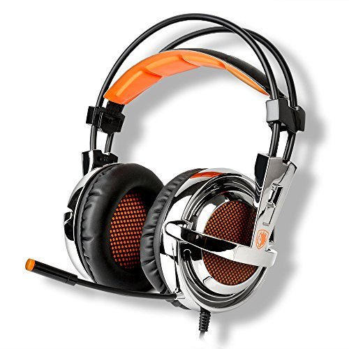 SADES SA-928 professionelle Gaming-Kopfhörer Kopfhörer über Ohr Stirnband mit hochempfindlichen Mikrofon Lautstärkeregelung für PC Laptop PS3 Xbox360 -