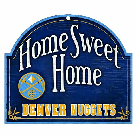 NBA Denver Nuggets 10-by-11 inch Wood Home Sweet Home Sign