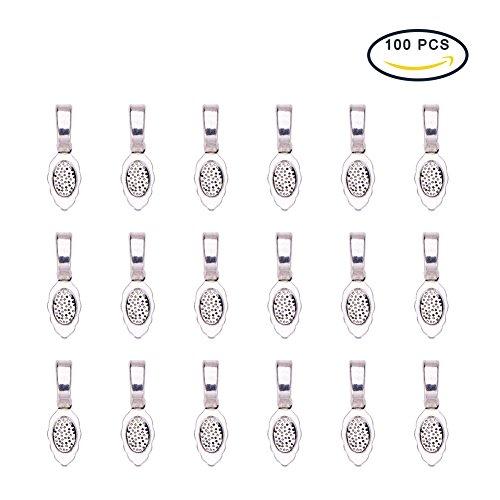 pandahall-lot-de-50-belieres-a-coller-feuille-pour-pendentif-en-alliage-couleur-argent-antique-sans-