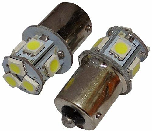 Preisvergleich Produktbild Aerzetix - 2 X LED - Ampulle Birne Lampen 24V P21W R10W R5W 8LED SMD weiß für LKW Garagentor-Portal