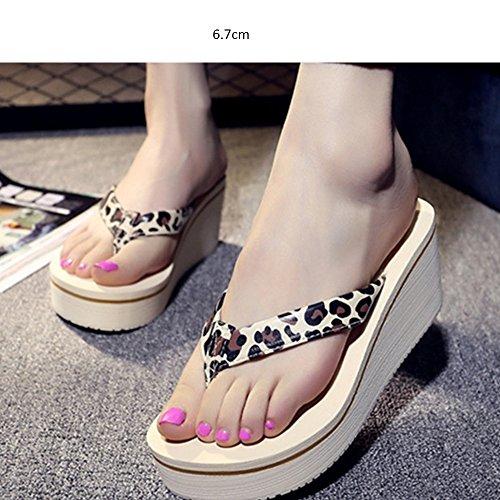 Pantofole a forma di alto tacchi Pattini spessi di modo femminile di estate Pendenza con i pattini freddi Sandali della spiaggia Pattini antisdrucciolevoli delle scarpe (7 colori opzionali) (formato o G.
