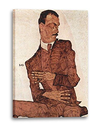 Egon Schiele - Portrait von Arthur Rössler (1910), 120x80 cm, Leinwand auf Keilrahmen gespannt und fertig zum Aufhängen, Stilrichtung: Expressionismus