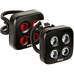 Knog Blinder MOB The Face - Set luces a pilas - Twinpack negro 2016