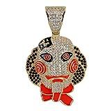 LC8 Jewelry Hip Hop Iced out Bling 6ix9ine - Collar con Colgante de Payaso de Cadena 69 Tekashi69 con Cadena de Cuerda de Acero Inoxidable de 61 cm