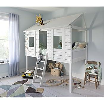 Children S Bed Loft Bunk Bed Dominik Solid Beech Wood