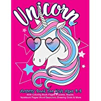 Unicorn Activity Book for Kids Ages 4-8 : With Coloring Book Pages, Puzzles, Mazes,  Notebook Pages, Word Searches, Drawing Grids & More: Big Unicorn ... with Lots of Variety (Kids Activity Books)
