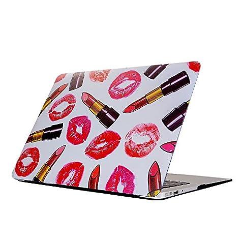 MacBook Air 11 Hülle, L2W Neue stilvolle Kunst Gedruckte Matt Mattierte Gummi Beschichtete Hard Hülle Abdeckung Für 11-Zoll MacBook Air 11.6