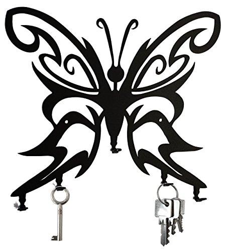 Schlüsselbrett / Hakenleiste * Schmetterling * - Schlüsselboard - 5 Haken