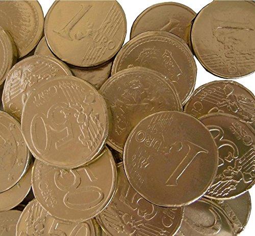 Preisvergleich Produktbild 1, 20 kg Hitschler Goldmünzen Goldtaler Kaubonbon Piratengold Karneval Hochzeit Feste Umzüge