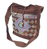 flevado Indische Yogi Handtasche Freizeittasche Strandtasche Schultertasche in Braunton