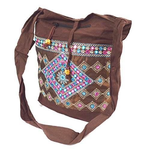 flevado Indische Yogi Handtasche Freizeittasche Strandtasche Schultertasche in Braunton (City Party Party Taschen)