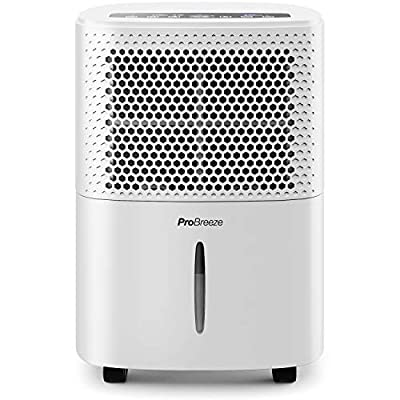 Pro Breeze 12L/Day Dehumidifier with Digital Humidity Display, Sleep Mode, Continuous Drainage, Laundry Drying and 24 Hour Timer - Ideal for Damp and Condensation