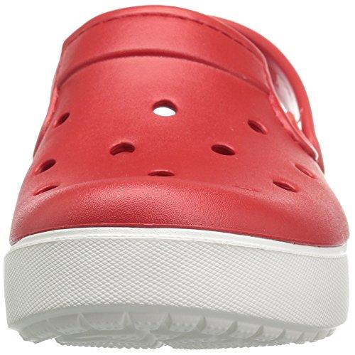 Crocs Citilane Clog Flm/Whi, Sabots Mixte Adulte Rouge (Flame/White)