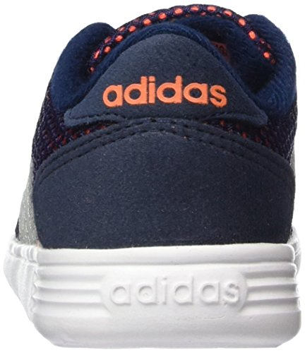 adidas  Lite Racer Inf, Sneakers Basses Unisexe - Enfant Multicolore (bleu marine collégial / onyx clair / orange solaire)