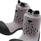 Attipas Cutie (21.5, grau) Kinder Barfußschuhe, ergonomische Baby Lauflernschuhe, atmungsaktive Kinder Hauschuhe ABS Socken Babyschuhe - 4