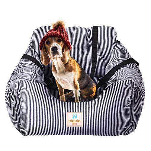MTHDD Hunde Autositz kleine Hunde Weicher Waschbarer Rutschfester Hundesitz für Auto mit Abnehmbare HundeKissen Katze Reisen Front Booster Sitze,Blau,55 * 50 * 30cm