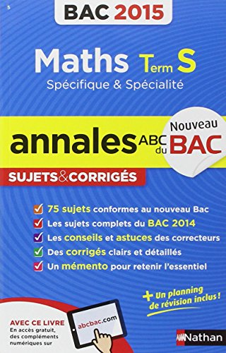 Annales ABC du BAC 2015 Maths Term S spcifique et spcialit