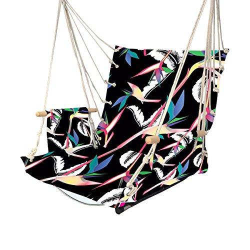 sichyuan tragbar Seil zum Aufhängen Hängematte Stuhl, 5Farben Garden Swing Stuhl für Outdoor-Reise/Camping/Wandern/Rucksackreisen. (Patio Hollywoodschaukel Stuhl)