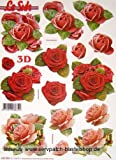 Rosen - 3D Stanzbogen